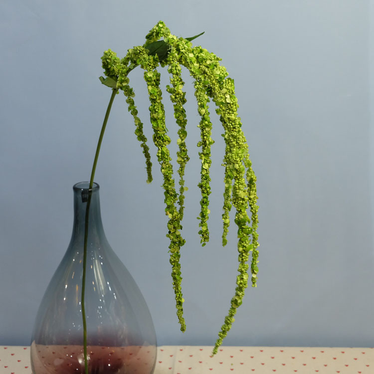 Flone 8 Branch Artificial Lover Fruit Green Amaranthus Artificial Flower Green Plant Wedding Home DIY Decoration Foam Flowers (13)