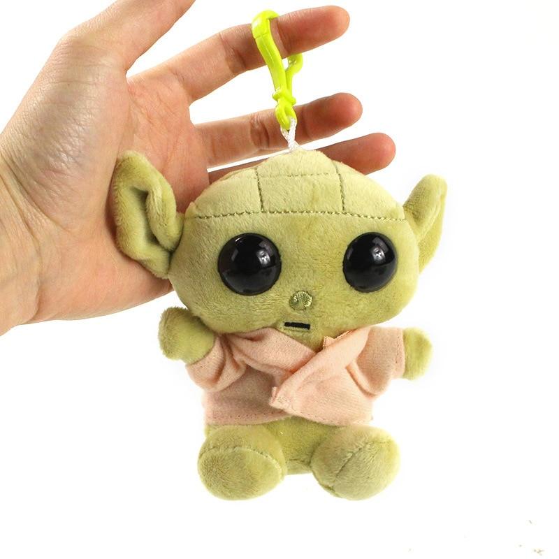 11cm Star Wars Baby Yoda Plush Peluche Toys Master Yoda Soft Stuffed Animal Dolls Keychain Pendant Christmas Gift For Kids Child