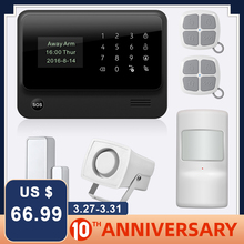 цена на 2017 G90B-PLUS GSM Alarm System APP Remote Control Smart Home Intelligent GSM GPRS SMS Wifi Alarm System Security