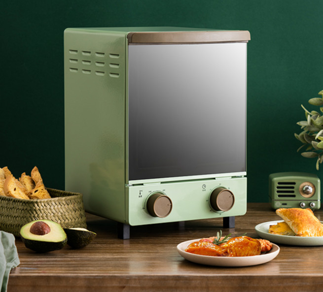 12L Multifunctional Retro Automatic Double Layer Electric Oven
