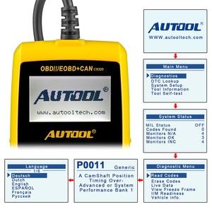 Image 4 - AUTOOL CS320 OBD2 סורק רכב רכב OBD2 קוד Reader CANBUS סריקה דיגיטלי אבחון כלי LED Dispaly מפתח DIY PK AD410