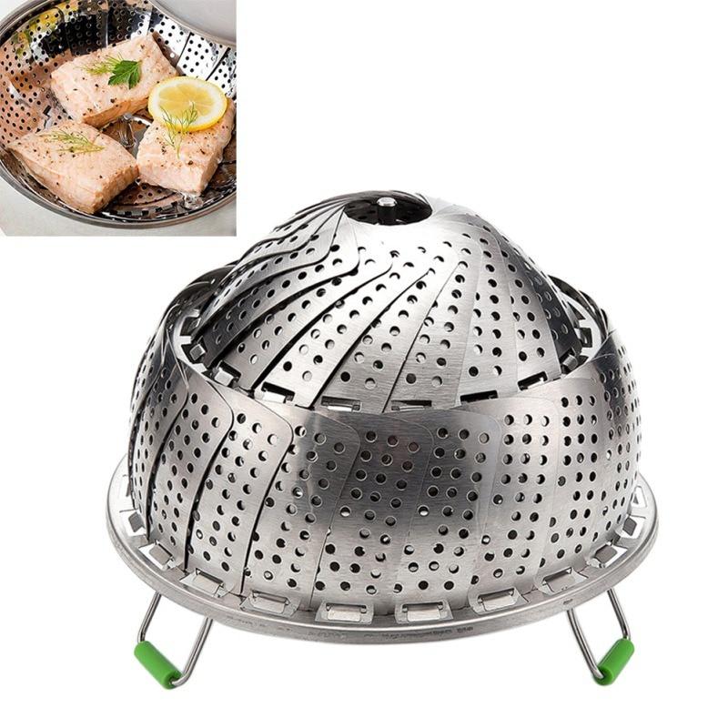 Steamer Inserts For Pot Pans Crock Pot Steamer Food Fruit Vegetable Vapor Cooker Dish Steamer Basket Stainless Steel