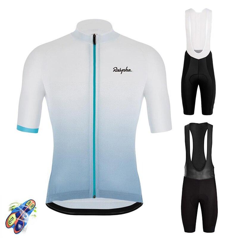 Ralvpha 2020 Cycling Set Man Cycling Jersey Short Sleeve Bicycle Clothing Kit Mtb Bike Wear Triathlon Uniforme Maillot Ciclismo