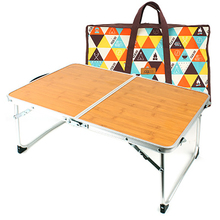Mini Folding Desk Outdoor Camping Hiking Trave Bamboo Table  Portable Picnic Barbecue Small Table Bed Computer Desk giantex folding table portable picnic party dining camp tables white modern desk utility office computer desk op2968
