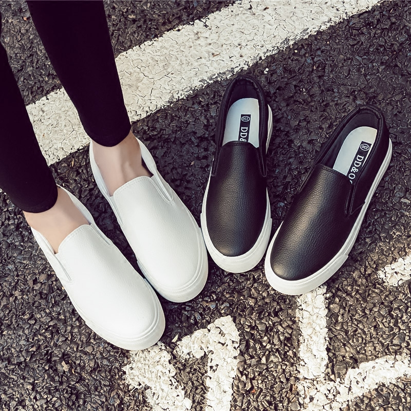 2018 Shoes Woman New Fashion Casual Platform Solid Breathable Simple Women Casual White Shoes Sneakers