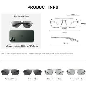 Image 5 - CAPONI فوتوكروميك نظارات الرجال الاستقطاب الكلاسيكية ماركة تصميم مكافحة راي ظلال القيادة مربع نظارات شمسية الرجال UV400 CP8724