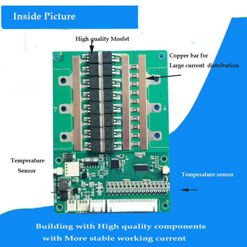 48V Lithium Ion Battery smart Bluetooth BMS 100A