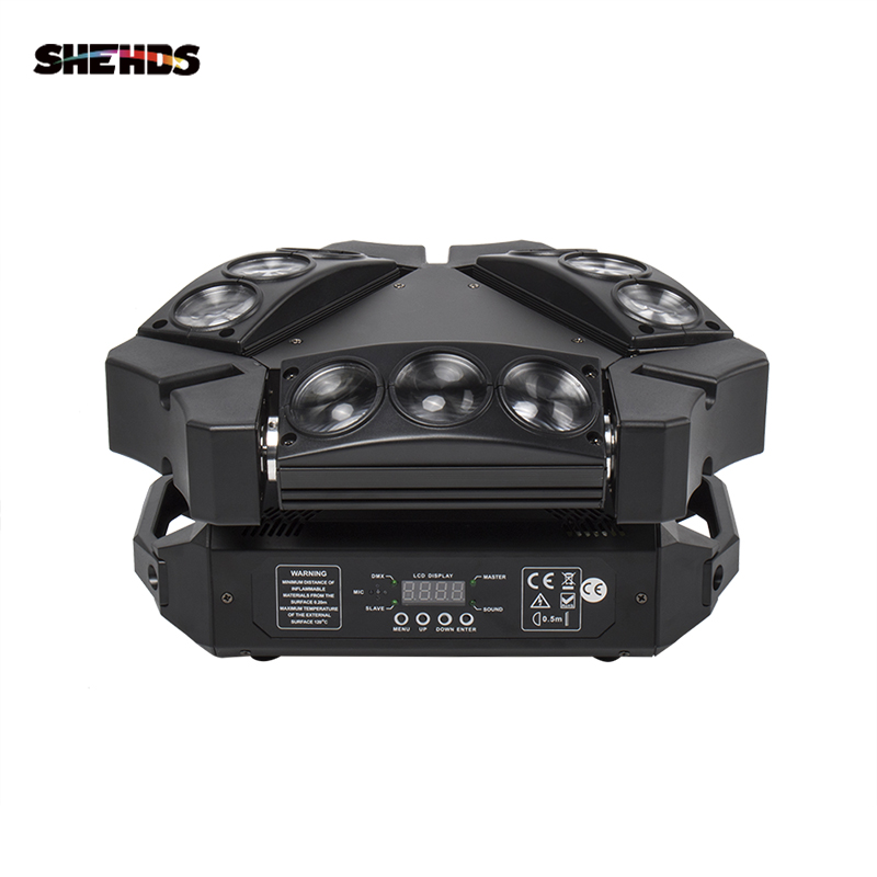 มาใหม่ MINI LED 9x10W LED Spider RGBW 16/48CH DMX STAGE DJ LED spider Moving Head Beam LIGHT