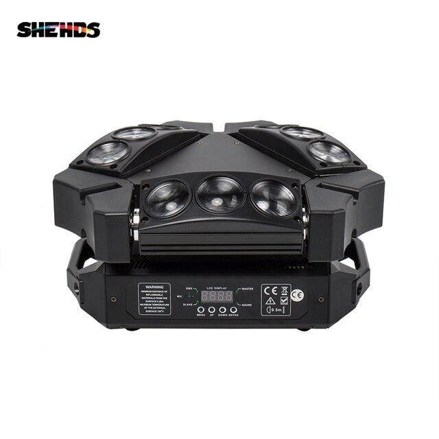 새로운 도착 미니 LED 9x10W LED 스파이더 라이트 RGBW 16/48CH DMX 무대 조명 Dj LED 스파이더 이동 헤드 빔 빛