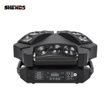 Baru Kedatangan MINI LED 9X10W LED Spider Light RGBW 16/48CH DMX Lampu Panggung Dj LED spider Lampu Beam Moving Head(China)