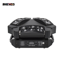 цена на New Arrival CREE MINI LED 9x10W Led Spider Light RGBW 9/43CH DMX Stage Lights Dj Led Spider Moving Head Beam Light