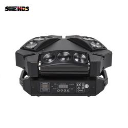 New Arrival MINI LED 9x10W LED Spider Light RGBW 16/48CH DMX Stage Lights Dj LED Spider Moving Head Beam Light