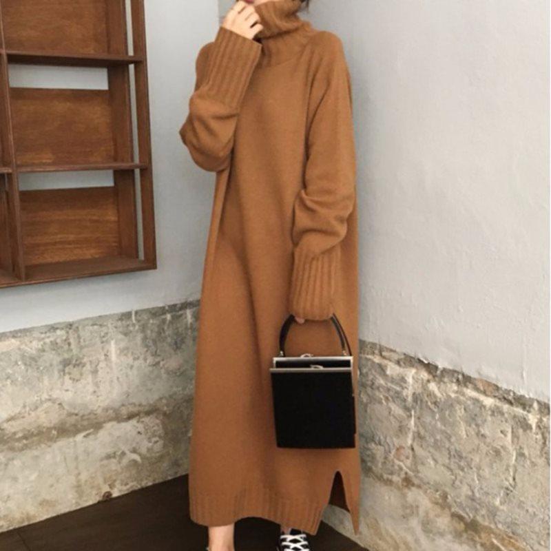 Womens Ladies Fashion Fur Hooded Bohemian Winter Knitted Long Coat Outwear 5663