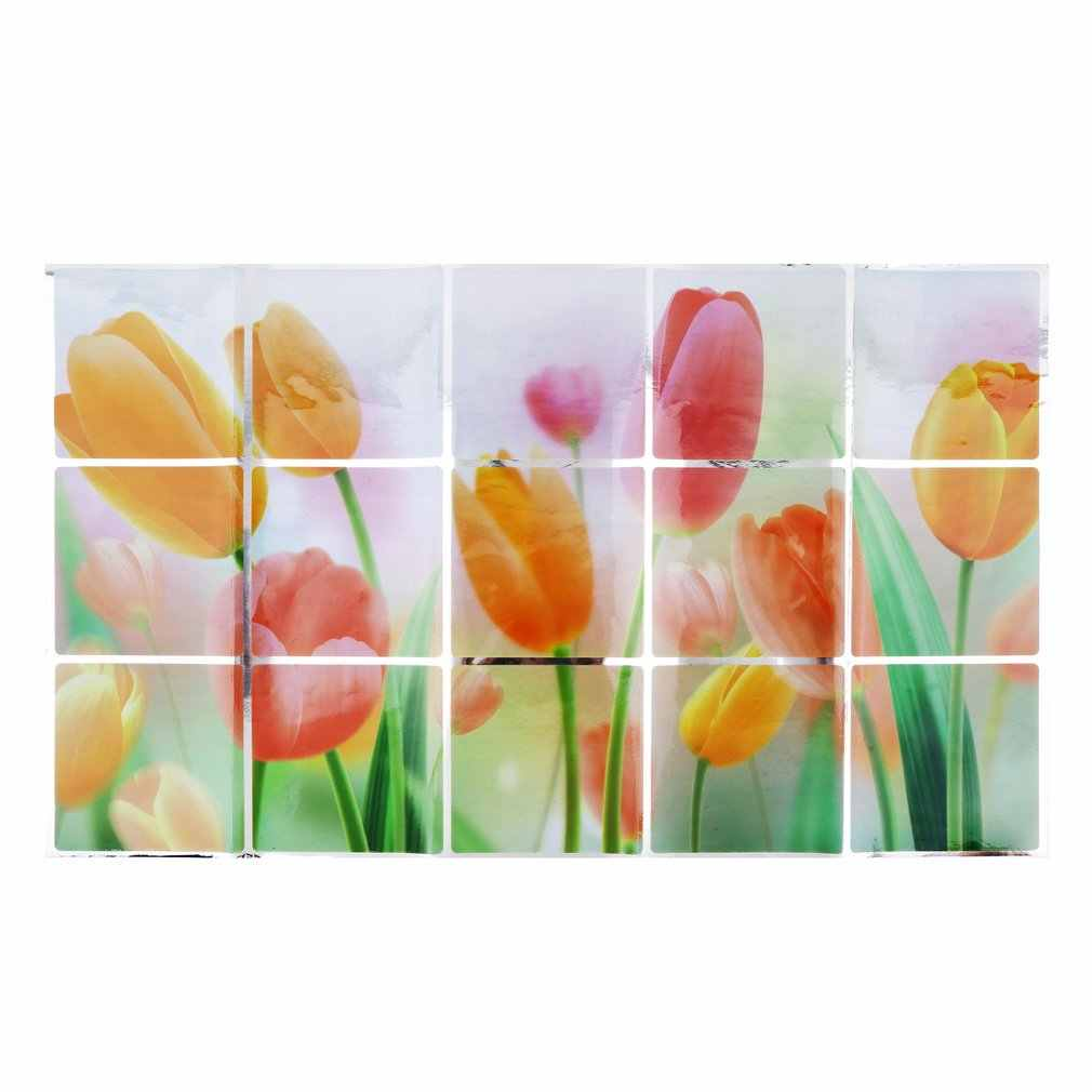 1 шт. водонепроницаемый цветочный узор алюминиевая Медная Фольга наклейка