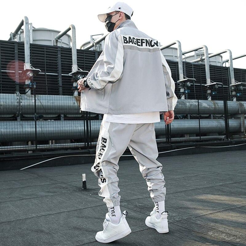 Fashion Tracksuit Hip Hop Sweatshirt Men Suit Tracksuit Sweatshirt Set Sport Suit Mens Clothing Sportwear Hommes Coat JJ60NT