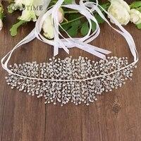 Noble Wedding Belt Dress Belt Rhinestone Wedding Accessories Dress Long Belt Bride Bridesmaid Belt For Women Girl Wedding Party