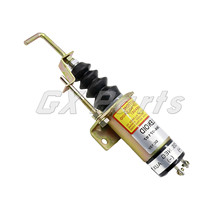 Fuel Shut Off Solenoid 366-07197 SA-3405T 12V for Lister Petter Diesel Engine loader 863 873 bf4m1011f fuel shut off solenoid 04272733