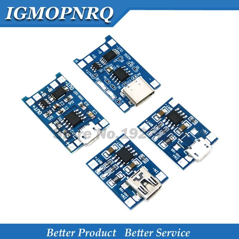 5 шт., зарядная плата 5 в Micro USB 1A 18650 TP4056 для литиевых батарей с зарядным модулем 1A