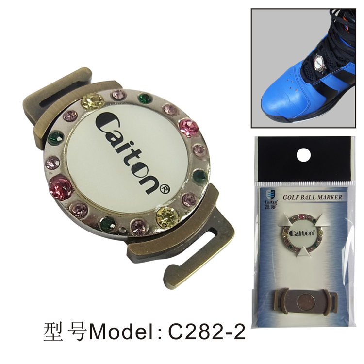 1pc Golf Ball Mark with Magnetic Clip for shoes golf accessories new on Shoelaces Bronze