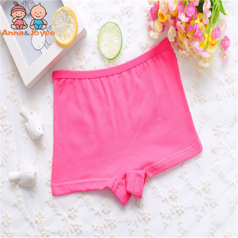 4Pc Cartoon Girls Underwear Cotton Boxer Panties Kids Underpant Shorts 6