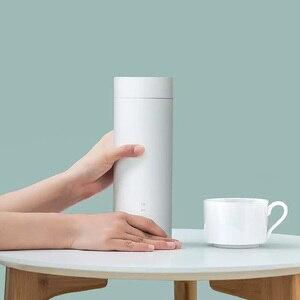 Image 2 - Youpin Viomi elektrikli su bardağı 400ml taşınabilir termos güveç fincan dokunmatik kontrol yalıtım Pot sıcak tutmak şişe seyahat için açık