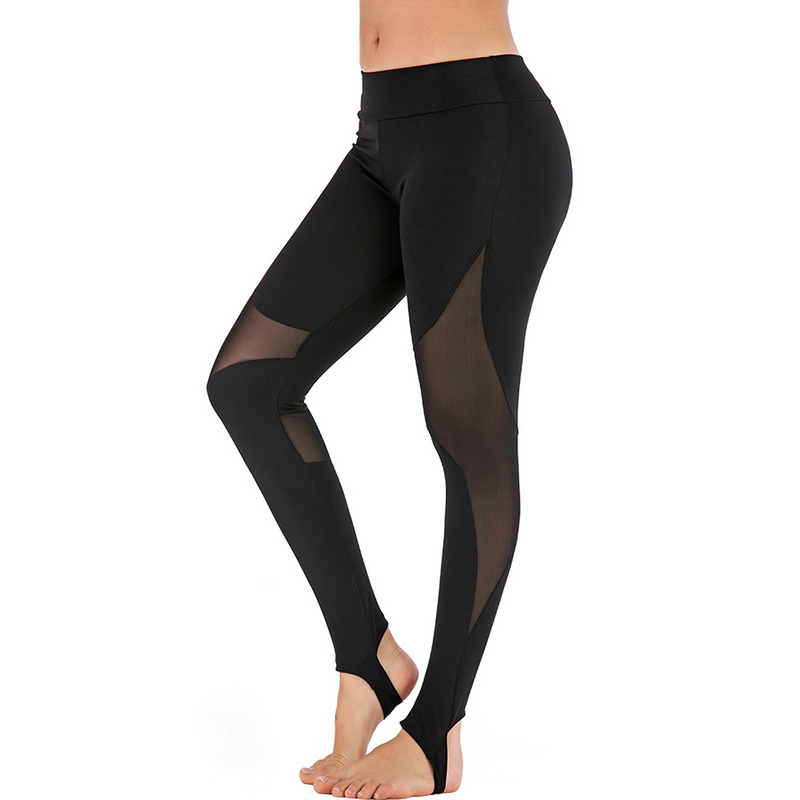 2019 Women Fashion Mesh Tight Leggings High Waist Sporting Hot Folding Fitness Yoga Pants With Pocket Gym Leggings in Leggings from Women 39 s Clothing