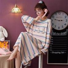 Осенне зимняя свободная Милая цельнокроеная ночная рубашка с