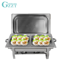 Buffet Stove Double Dishes Stainless Steel Buffet Trays 9.5L Clashing Dish Warmer Food Warming Catering Food Warmers