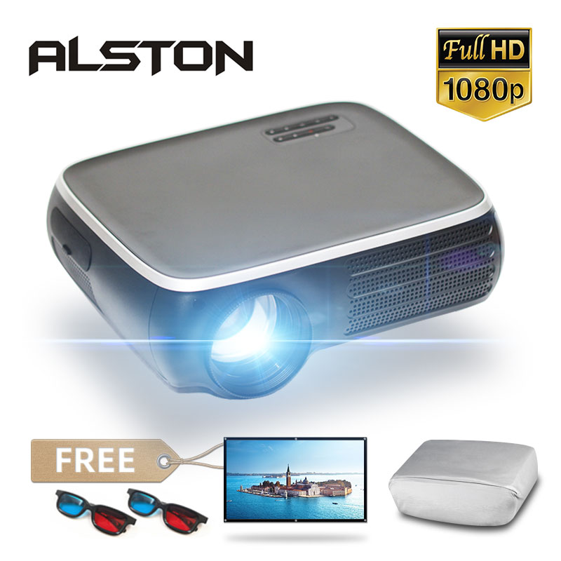 Проектор ALSTON M8S, Full HD 1080P, 4K, 7000 лм, Android, Wi-Fi, Bluetooth, HDMI