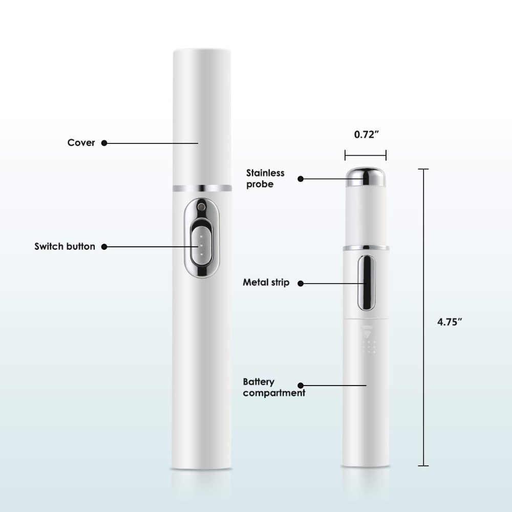 Lápiz láser para el acné máquina de eliminación de arrugas portátil Dispositivo de eliminación de cicatrices suaves y duraderas pluma de terapia de luz azul para masaje KD7910