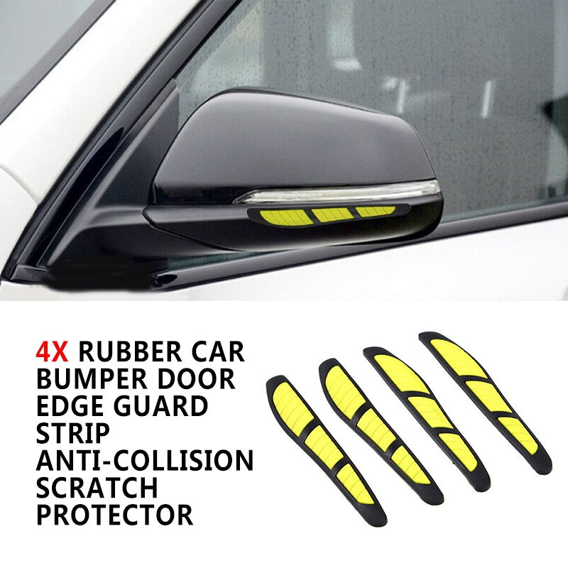Rubber Carbon Fiber Car Door Edge Guard Strip Scratch Protector Anti-collision Q