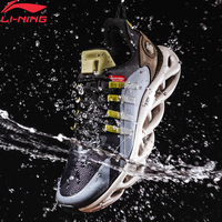 Li Ning Men LN ARC Cushion Running Shoes Wearable Waterproof LiNing WATER SHELL Sport Shoes Wearable Sneakers ARHP245 XYP946