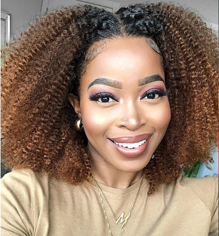 Afro Kinky Curly Short Bob Wig 1B 27 Honey Blonde Ombre 13x4 Lace Front Human Hair Wigs For Black Women Peruvian Remy 150% Hair