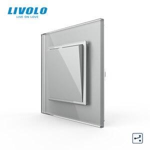 Image 3 - Livolo Manufacturer EU standard Luxury crystal glass panel,Push button 2 Way switch, keyboard switch ,key pad cross switch
