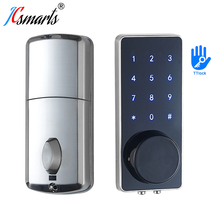 Bluetooth Electronic Door Lock Deadbolt Mobil Phone TT lock APP Keyless Entry Intelligent Door Lock For Home With Gateway Wifi
