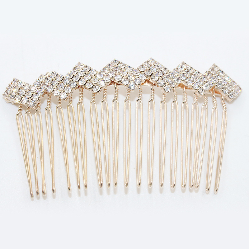 Silver Color Rhinestone Rose Flower Crown Bow Bridal Hair Comb for Girls Crystal Hair Ornaments Jewelry Wedding Hair Accessories