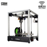 DIY New Cross Structure 3d printer 360W power HD screen FDM Printer aluminum structure 205*205*245mm Ultimaker2 UM2