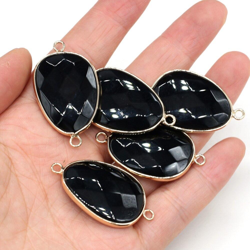 Купить подвески в форме капли из натурального камня черный оникс соединитель