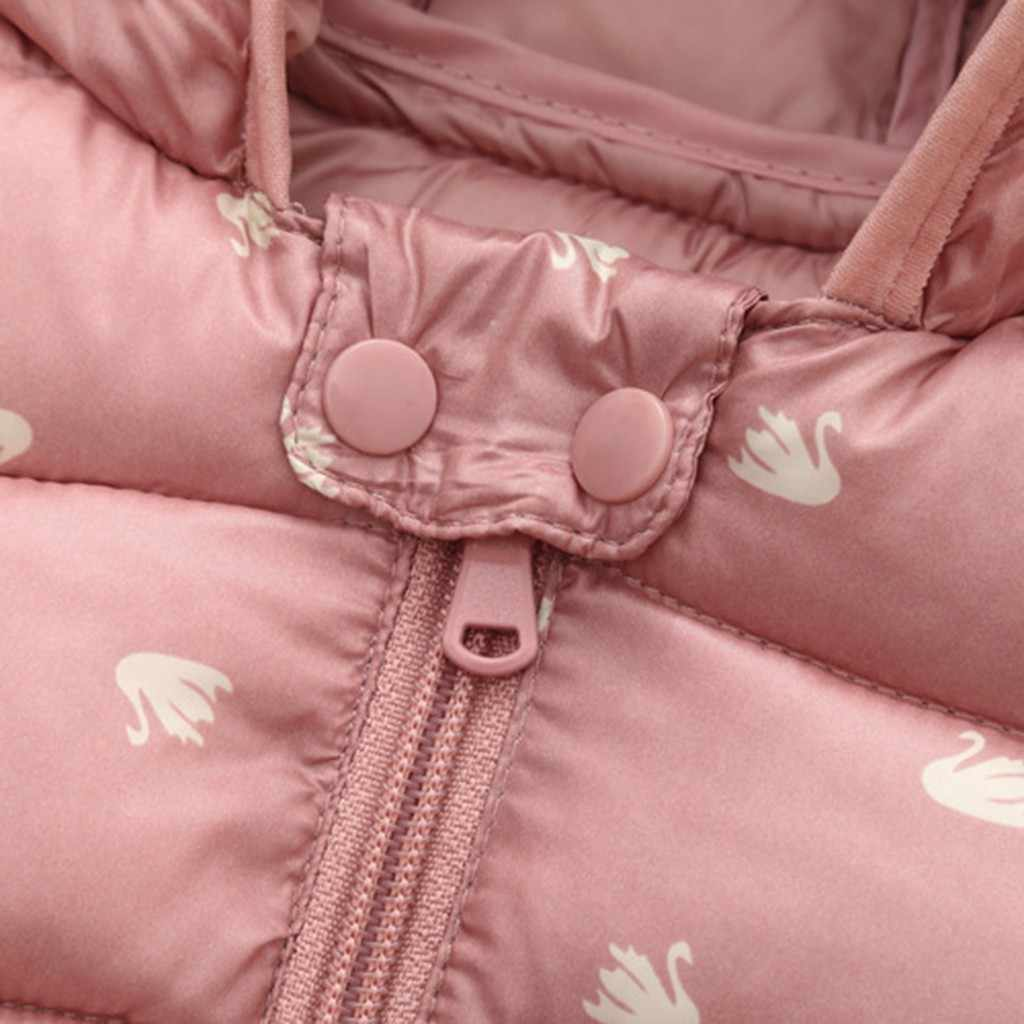2019 חדש לפעוטות תינוק ילד ילדה חורף windproof מעיל חם קריקטורה הדפסת דוב אוזני ברדס כותנה מעיל winterjas meisje 4 *
