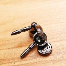 DIY טהור נחושת אוזניות פגז מקרה עבור 14.2mm טסלה נהגים טיטניום מצופה HiFi אוזניות שיכון מקרה