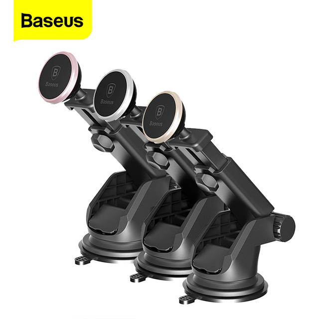 Baseus Magnetic Car Phone Holder For iPhone 11 Pro Xs Max Telescopic Suction Cup Magnet Car Mount Cell Mobile Phone Holder Stand