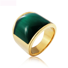 New Arrival Opals Fashion Jewelry Rings Attractive Titanium Steel Ring Jewel For Men Party Wedding Gifts