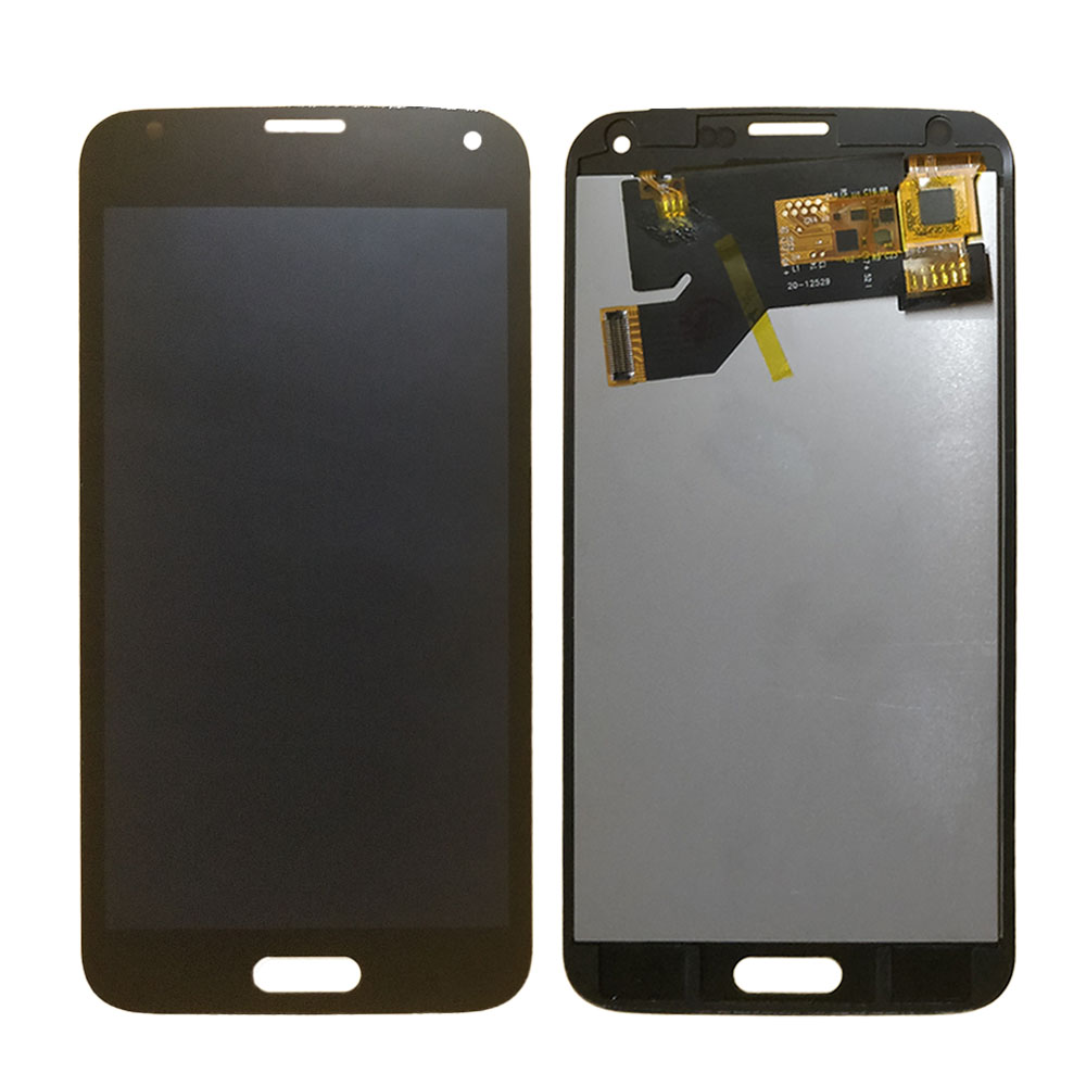 For <font><b>Samsung</b></font> Galaxy S5 G900 <font><b>G900F</b></font> G900I G900A LCD <font><b>Display</b></font> Touch Screen Digitizer Assembly Glass Panel Metal sheet backlight image