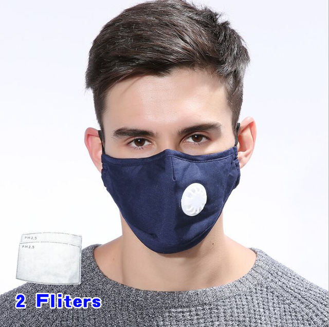 Anti Pollution Mask Dust Respirator Washable Reusable Masks Cotton Unisex Mouth Muffle for Allergy/Asthma/Travel/ Cycling 1