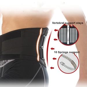 Image 3 - גברים נשים מותן גוזם עמוד השדרה פלדת צלחת תמיכת כושר כושר הרמת משקולות מותני חזור Brace ספורט אבזרים