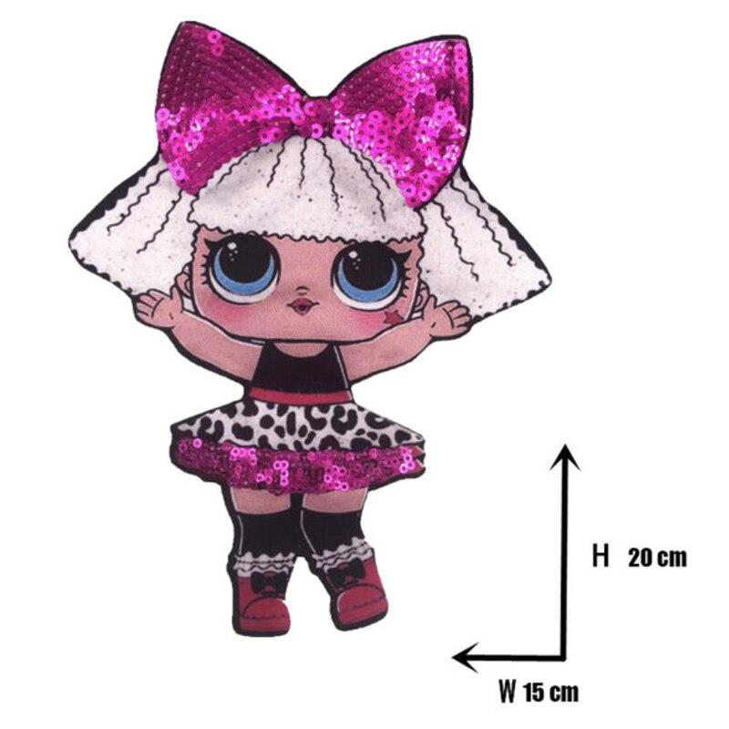 Мультяшные нашивки женские модные куклы лол для девочек Милая Модная Кукла-мальчик вышивка на одежду ручная работа украшение одежды Блестки Ткань - Цвет: WW-37