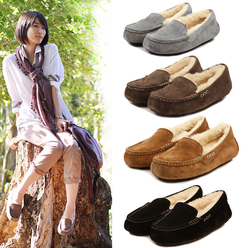 Brand Ivg Free Shipping 2019 High Quality Australian Women Comfortable Soft Deer Shoes Winter Leather Shoes Flat Driving Shoes