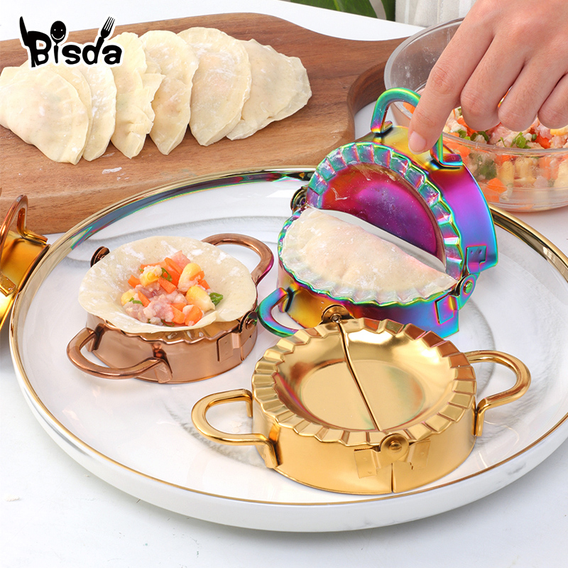 Dumpling Making Steel Stainless Dumplings Mold Pastry Portable Kitchenware Dough Cutter Kitchen Utensils Eco-Friendly Easy