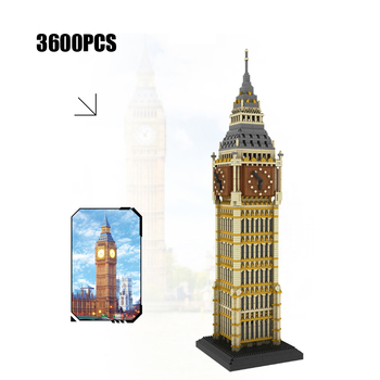 England London Big Ben building bricks Elizabeth Tower micro diamond block World famous Architectures nanobricks toys collection