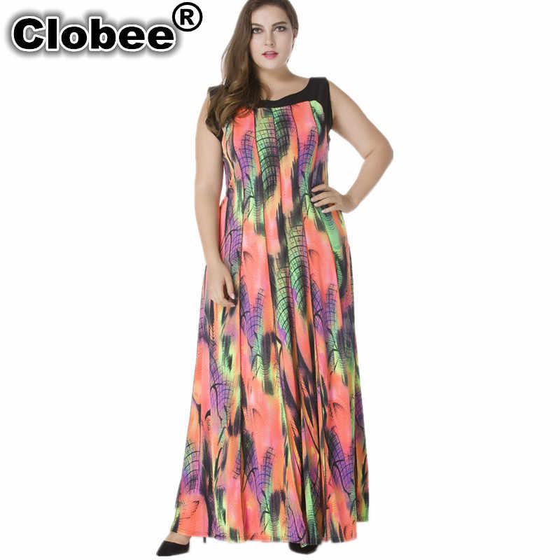 Мода 2019, летняя элегантная одежда, богемная Украина, цветочный принт, макси, Длинные вечерние платья, большие размеры, женская одежда, 5XL 6XL 7XL